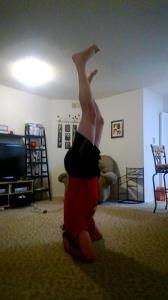 supported headstand yoga challenege day 1